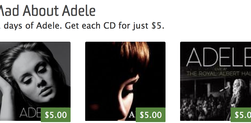 21 Days of Adele – $5 Sale