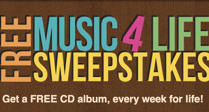 Murfie Free Music 4 Life Sweepstakes