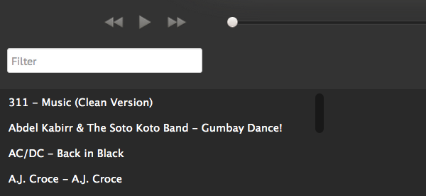 How-to: filter your miniplayer