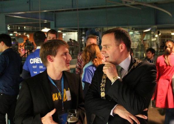 Murfie CEO, Matt Younkle, with the Lord Mayor of Dublin, Naoise Ó Muirí
