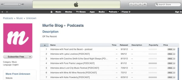 Our Podcast is on iTunes!