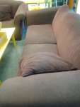 Our purple couches!